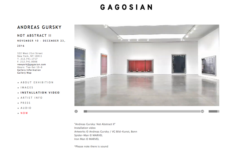 »ANDREAS GURSKY - NOT ABSTRACT II«, GAGOSIAN NYC