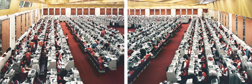 Andreas Gursky - Hong Kong, Stock Exchange, Diptych
