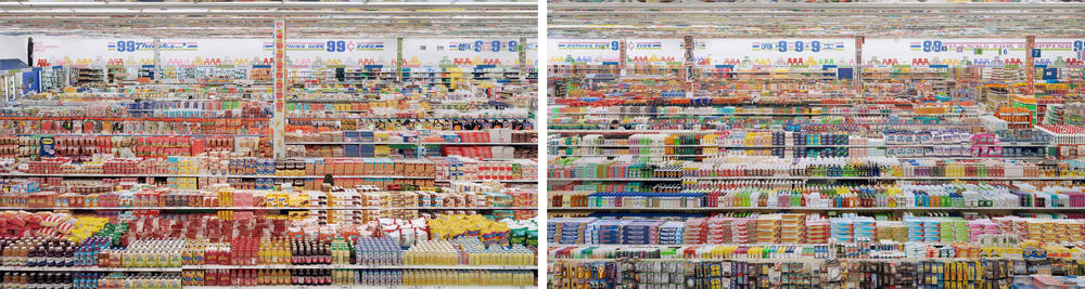 Andreas Gursky - 99 Cent II, Diptych